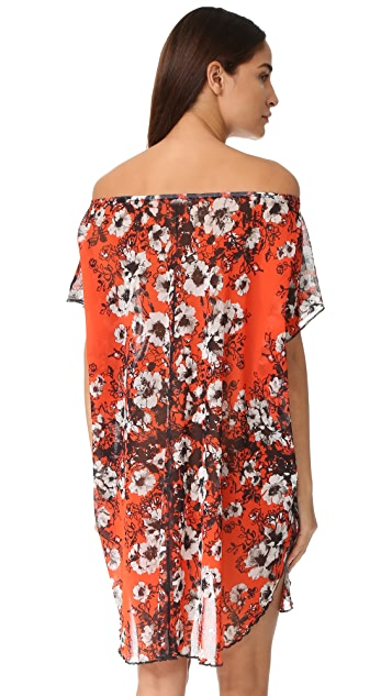 Fuzzi Floral Off the Shoulder Dress