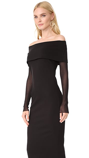 Fuzzi Off Shoulder Dress