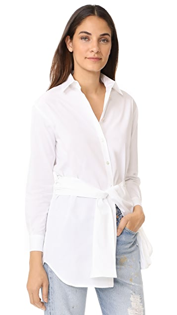 Fuzzi Long Sleeve Button Down Shirt