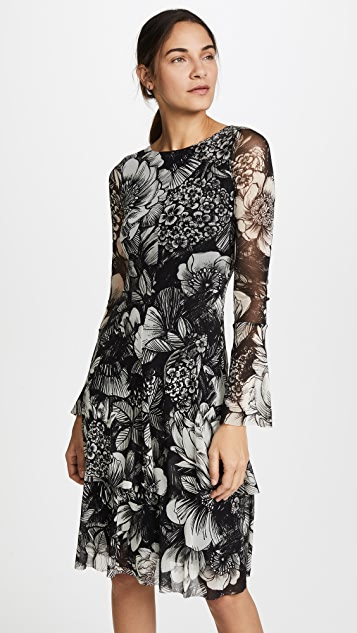 Fuzzi Floral Long Sleeve Dress