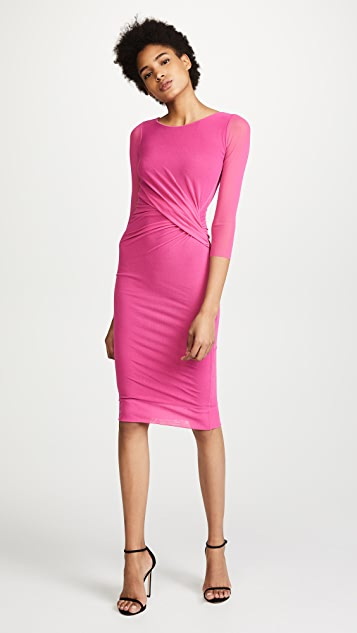 Fuzzi 3/4 Sleeve Midi Dress