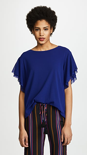Fuzzi Flutter Sleeve Top