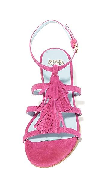 Frances Valentine Mia Fringe Sandals