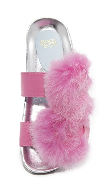 Frances Valentine Marie Fur Slides