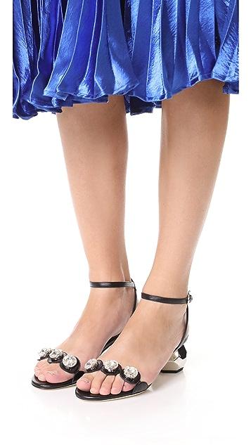 Frances Valentine Beatrix Crystal City Sandals