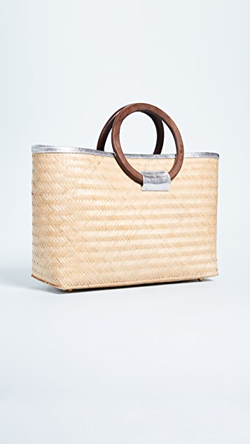 Frances Valentine Large Bamboo Shopper