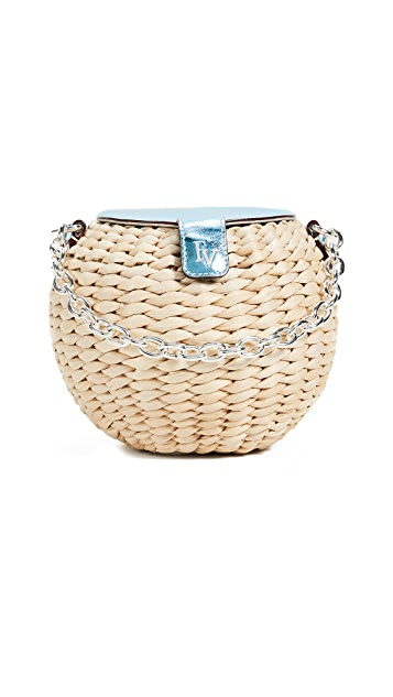 Frances Valentine Honeypot Mini Woven Bucket Bag