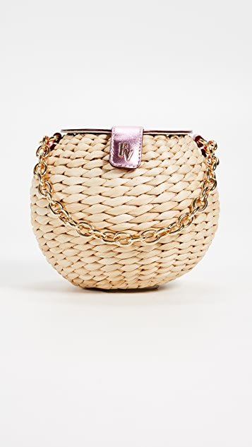 Honeypot Mini Woven Bucket Bag by Frances Valentine