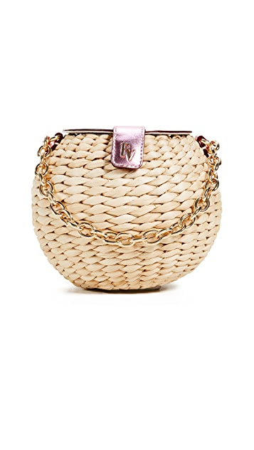 Frances Valentine Honeypot Mini Woven Bucket Bag
