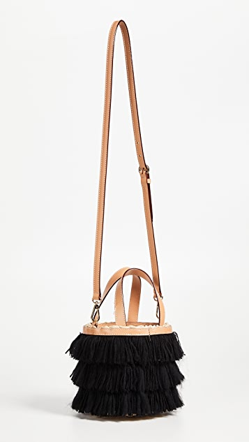 Frances Valentine Small Fringe Bucket Bag