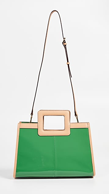 Frances Valentine Soft Patent Shopper Tote