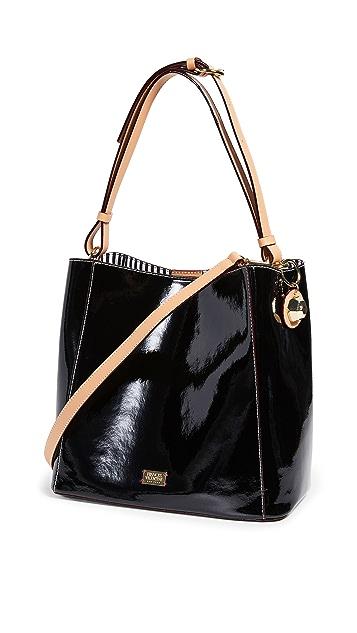 Frances Valentine Soft Patent Medium June Hobo Bag