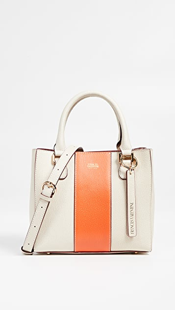 Frances Valentine Small Chloe Tote - Tangerine/Oyster
