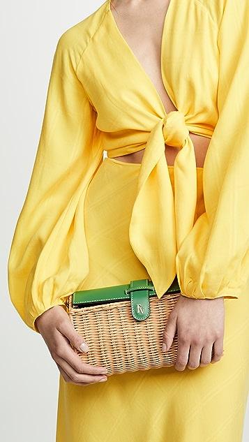 Frances Valentine Betsy Wicker Crossbody Bag