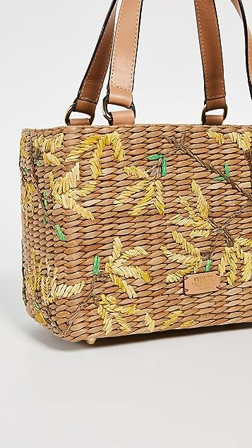 Frances Valentine Маленькая объемная сумка с короткими ручками Spring Flowers