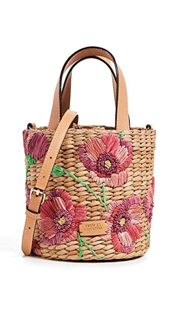 Frances Valentine Small Spring Flower Bucket Bag