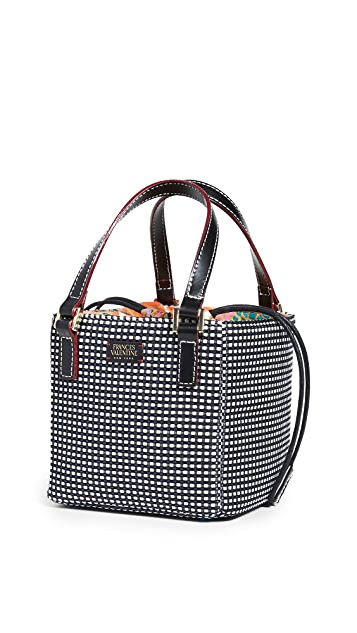Frances Valentine Small Cube Top Handle Tote Bag