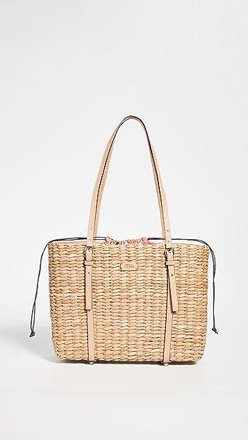 Frances Valentine Большая объемная сумка с короткими ручками
