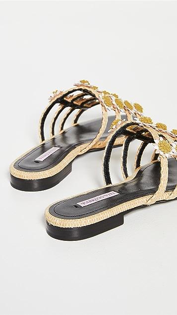 Fabrizio Viti 雏菊凉拖鞋