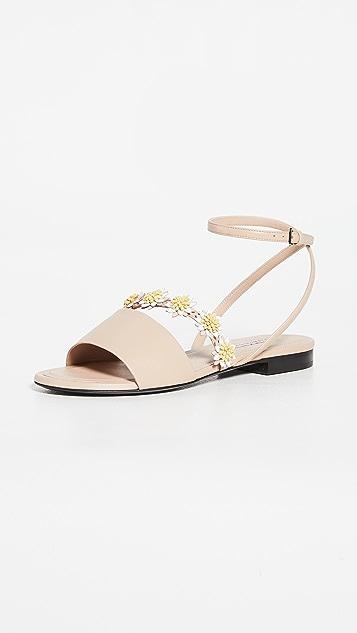 Fabrizio Viti Bea Ankle Strap Flat Sandals