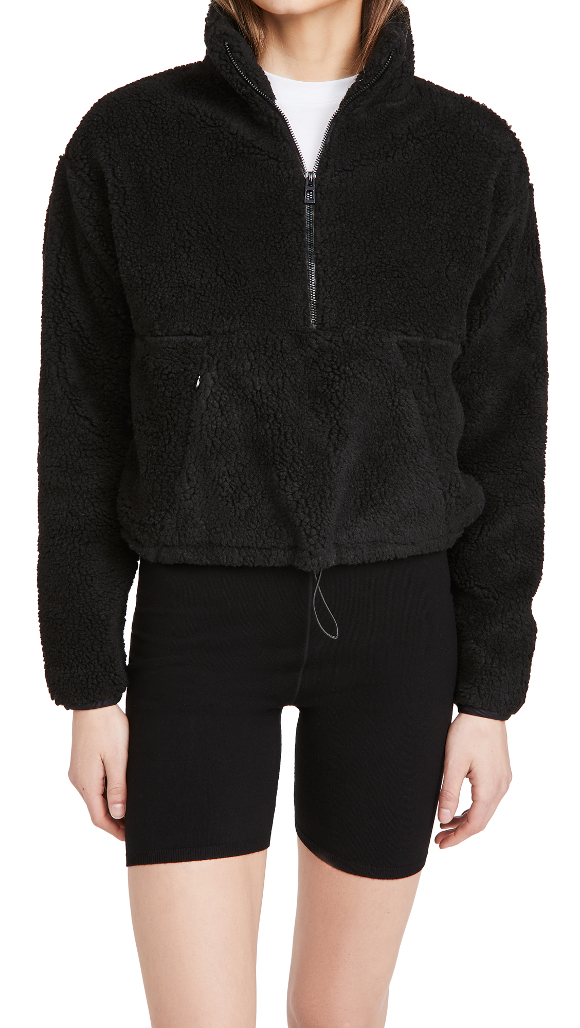 Good American Active Sherpa Pullover