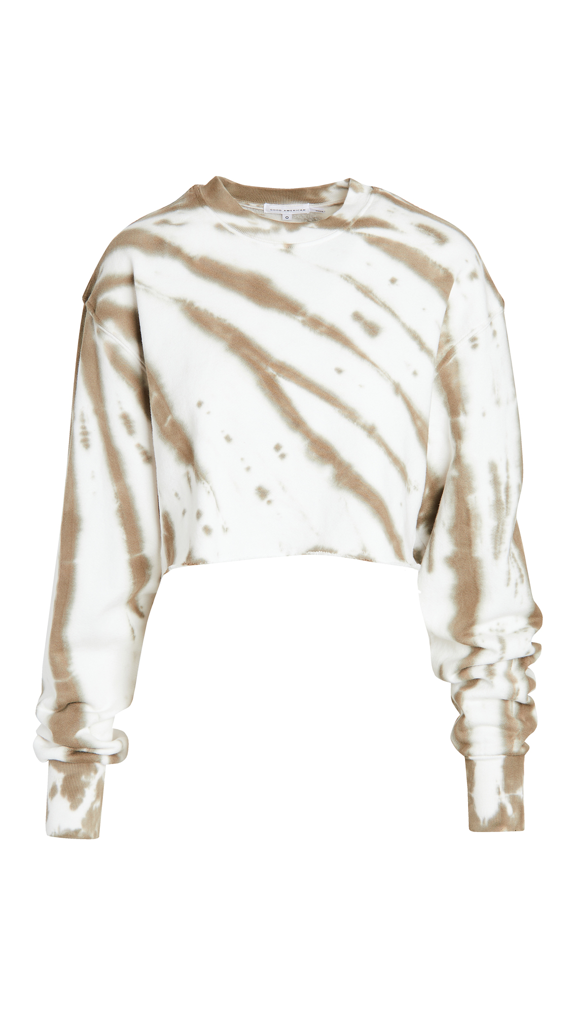 Good American Active Cropped and Cool Sweatshirt