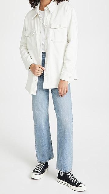Good American Essentials Fleece Shacket