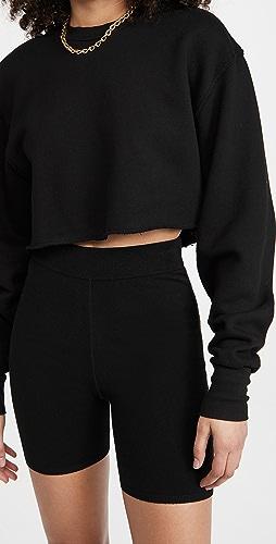 Good American Essentials - Cropped & Cool Sweatshirt