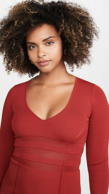 Good American The Low Down Knit Dress