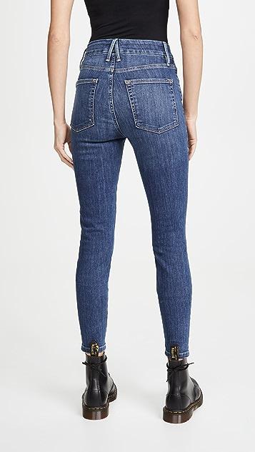 Good American Good Waist Chewed Hem Jeans