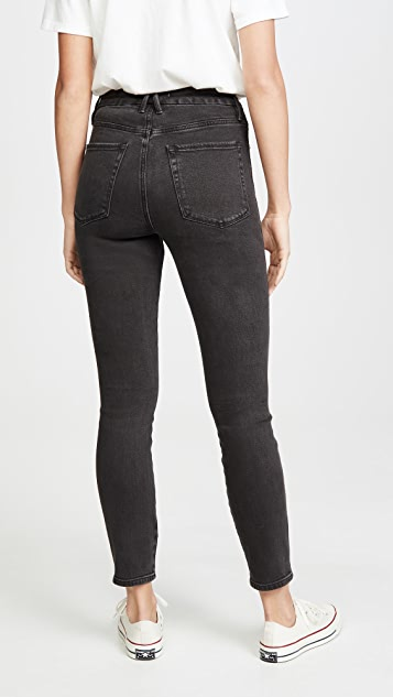 Good American Good Curve Skinny Jeans with Front Yoke