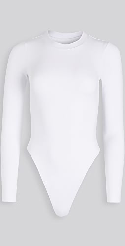 Good American - Long Sleeve Crew Thong Bodysuit