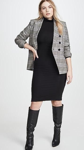 Good American Long Sleeve Turtleneck Dress