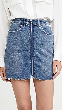 Exposed Zip Miniskirt