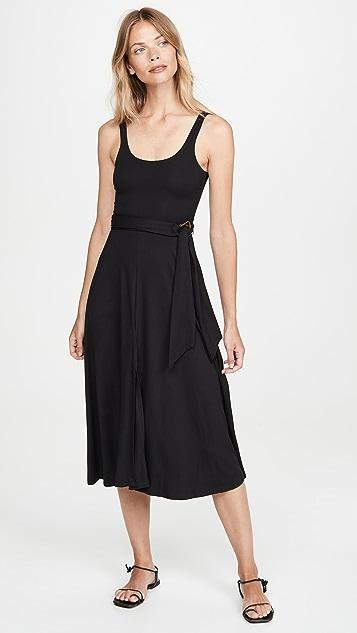 Good American Belted Open Front Swing Tank Dress