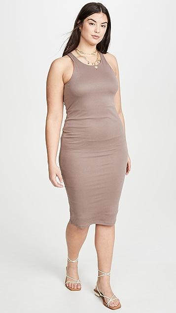 Good American Мини-платье в тонкий рубчик