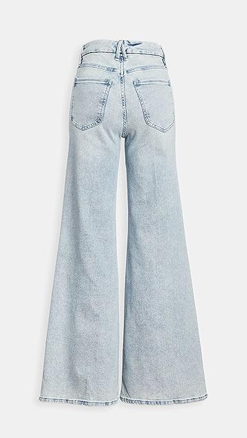 Good American Good Pallazo 牛仔裤