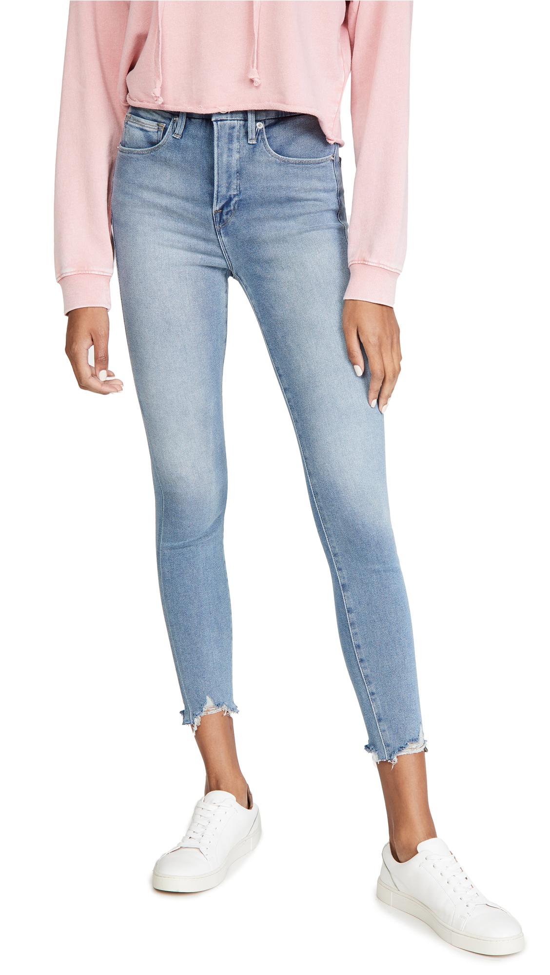 Good American Good Curve Crop Skinny Jeans