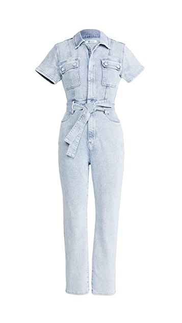 Good American Fit For Success Belted Jumpsuit