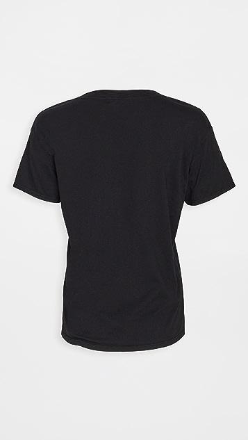 Good American 平纹针织 V 领 T 恤