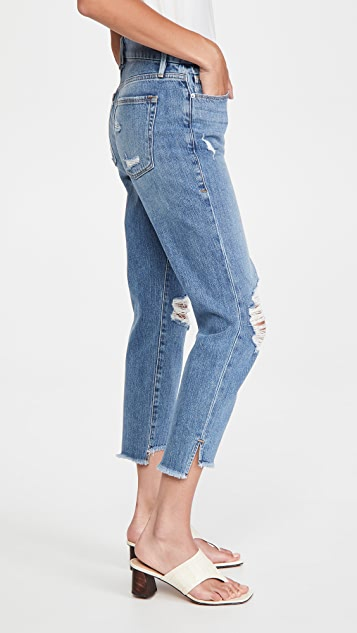Good American Good Girlfriend Jeans with Side Step Hem