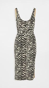 Good American Zebra Midi Dress