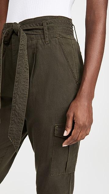 Good American 垂褶工装裤