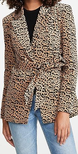 Good American - Velvet Leopard Blazer