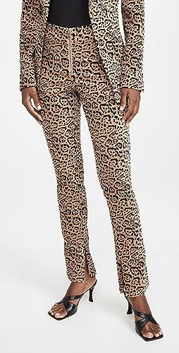 Good American - 天鹅绒豹纹西装裤