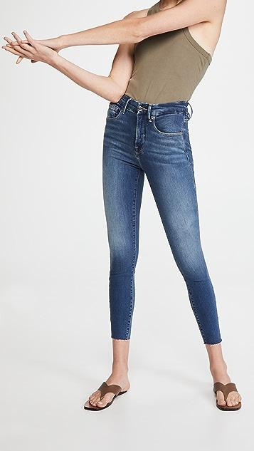 Good American Good Waist Crop Raw Edge Jeans