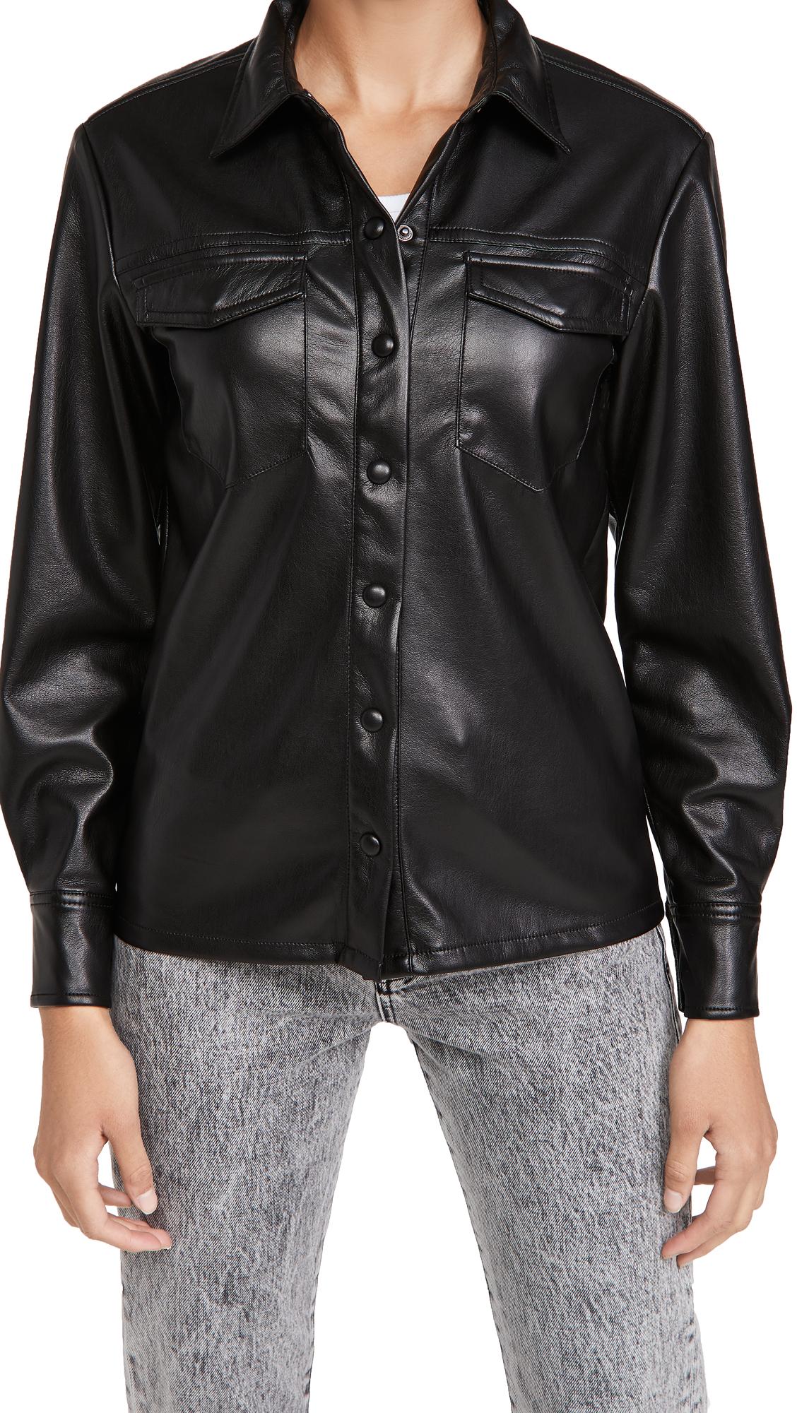 Good American Leather Like Military Shirt