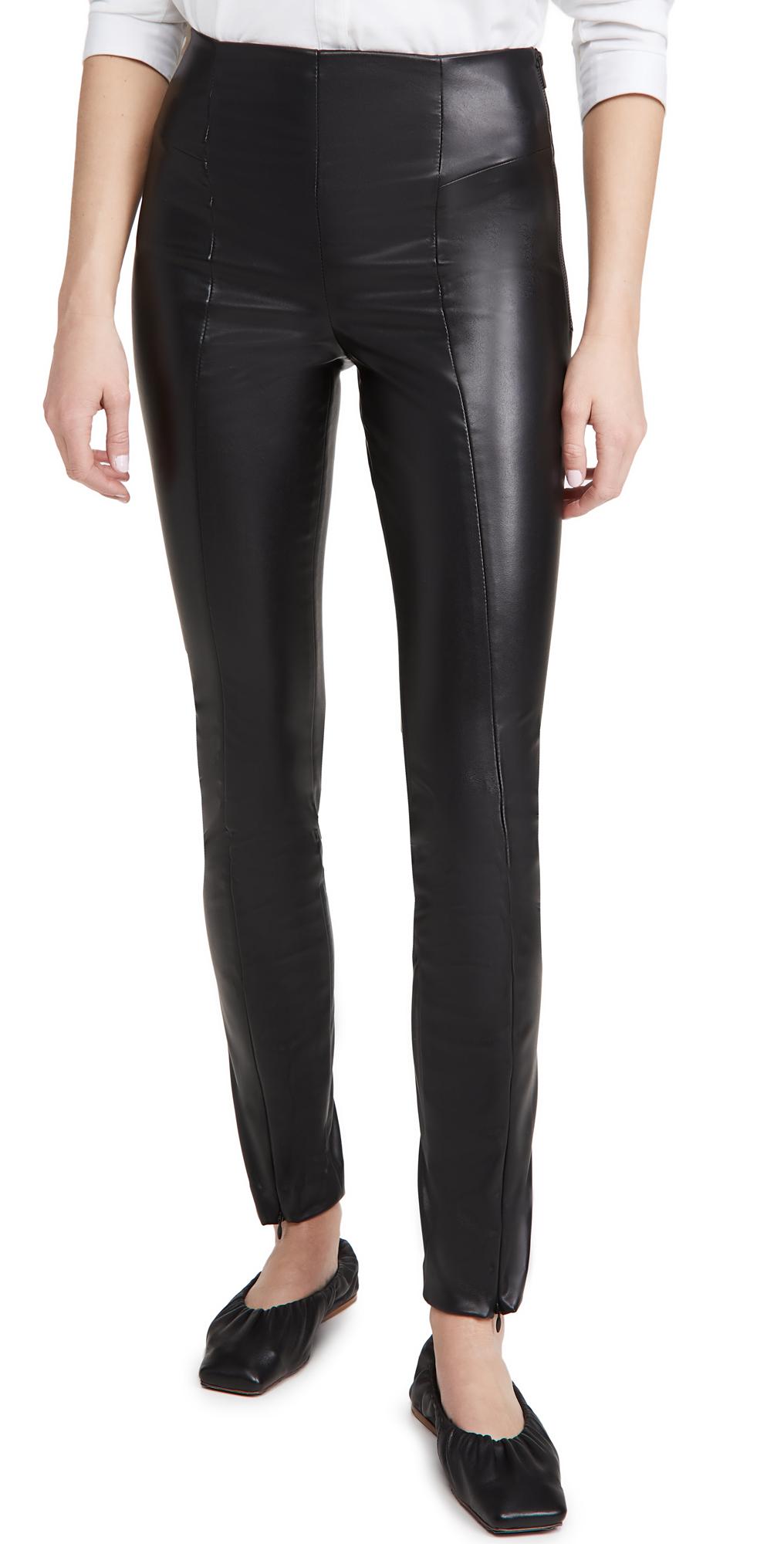 Good American Leather-Like Boss Pants