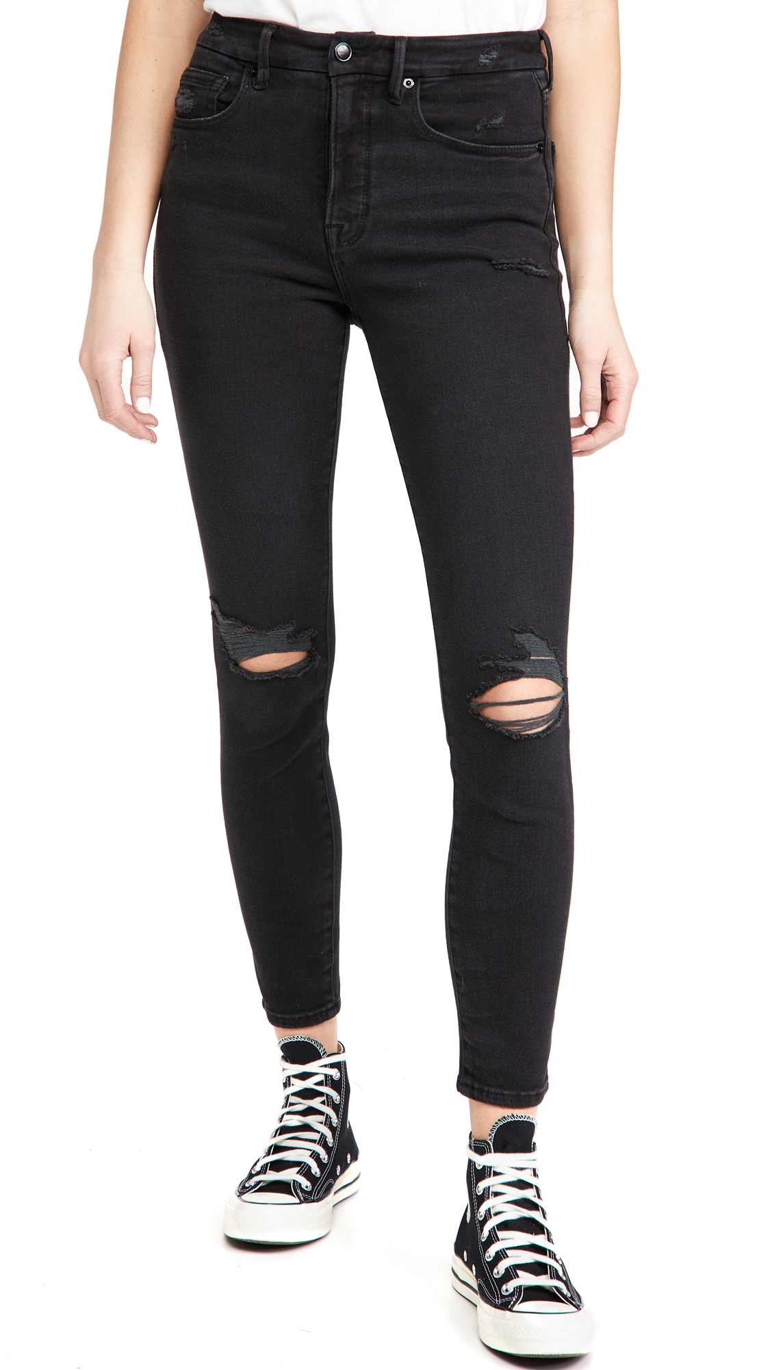 Good American Good Waist Extreme V Jeans