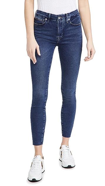 Good American Good Legs Raw Edge Jeans